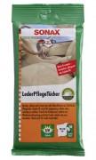 Салфетки для кожи авто Sonax Leder Pflege Tucher 415600 (20х18см)
