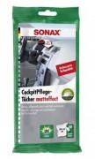 Салфетки для пластика с матовым эффектом Sonax Cockpit Pflege Tucher matteffect 415800 (20х18см)