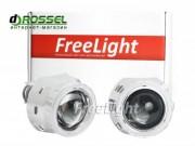 Би-ксеноновые линзы Freelight G5 H1 2.5` (65мм) с ангельскими глазками