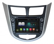 Штатная магнитола Incar TSA-2487 для Hyundai Accent 2011+ (Android 8+)