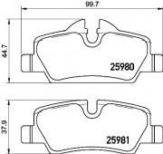 Тормозные колодки BREMBO P06 090