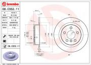 Тормозной диск BREMBO 08.C352.11
