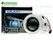 Би-ксеноновые линзы Galaxy G5 2.5` (65мм) с ангельскими глазками