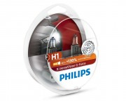 Комплект галогенных ламп Philips X-tremeVision G-force 12258XVGS2 +130% (H1)