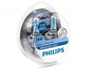 Комплект галогенных ламп Philips WhiteVision ultra 12342WVUSM (H4)