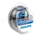 Комплект галогенных ламп Philips WhiteVision ultra 12972WVUSM (H7)
