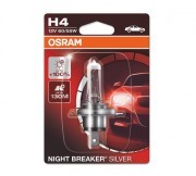 Лампа галогенная Osram Night Breaker Silver 64193 NBS-01B +100% (H4)