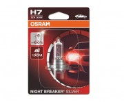 Лампа галогенная Osram Night Breaker Silver 64210 NBS-01B +100% (H7)