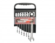 Набор рожково-накидных ключей Yato YT-0208 с трещоткой (7 шт)