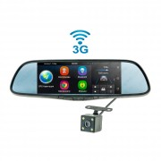 Штатное зеркало заднего вида Cyclone MR-250 AND 3G с монитором, регистратором, Wi-Fi, 3G, Bluetooth, GPS и камерой (Android 5.0)