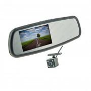 Штатное зеркало заднего вида с монитором, видеорегистратором и камерой заднего вида Cyclone MR-252