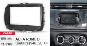 Переходная рамка Carav 11-708 для Alfa Romeo Giulietta (940) 2014+, 2DIN