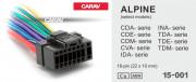 Разъем Carav 15-001 для подключения магнитолы Alpine (без ISO)