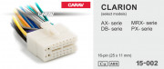Разъем Carav 15-002 для подключения магнитолы Clarion (без ISO)