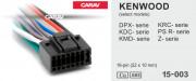 Разъем Carav 15-003 для подключения магнитолы Kenwood (без ISO)