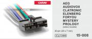 Разъем Carav 15-008 для подключения магнитолы Audiovox, AEG, Clatronic, Foryou, Mystery, Prology, Elenberg (без ISO)