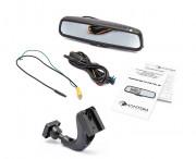 Штатное зеркало заднего вида с монитором и видеорегистратором Phantom RMS-431 DVR Full HD-6 для Daewoo, Chevrolet