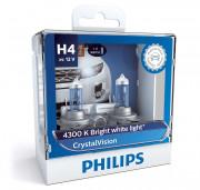 Комплект галогенных ламп Philips CrystalVision 12342CVSM (H4)