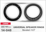 Комплект универсальных подиумов / проставок для динамиков Carav 14-048 в передние / задние двери