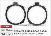 Комплект подиумов / проставок для динамиков Carav 14-028 в задние двери BMW 5-series (F10 / F11) 2011+