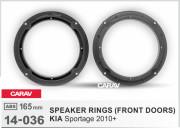 Комплект подиумов / проставок для динамиков Carav 14-036 в передние двери Kia Sportage 2010+
