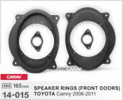 Комплект подиумов / проставок для динамиков Carav 14-015 в передние двери Toyota Camry 2006-2011