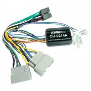Адаптер для подключения кнопок на руле и штатного усилителя AWM CH-0214A (Chrysler / Dodge / Jeep)