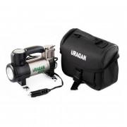 Компрессор Uragan 90190 (LED фонарь, манометр)