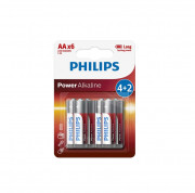 Батарейки Philips LR6 AA Power Alkaline (LR6P6BP/10)