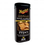 Салфетки для ухода за кожаным салоном Meguiar's G10900 Gold Class Rich Leather Wipes (18х23см) 25 шт