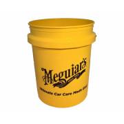 Пластиковое ведро для ручной мойки автомобиля Meguiar's RG203 Yellow Bucket (19л)
