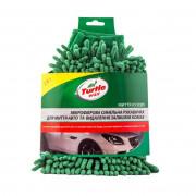 Микрофибровая синельная перчатка для мойки авто и удаления следов насекомых Turtle Wax X163 (24х16см)