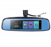 Штатное зеркало заднего вида `10 в 1` Phisung E09 с регистратором, монитором, камерой с подсветкой, Wi-Fi, 4G, Bluetooth, GPS (Android 5.1)
