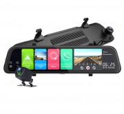 Зеркало заднего вида Phisung Z66 с видеорегистратором, монитором, дополнительной камерой, Wi-Fi, 4G / 3G, Bluetooth, GPS (Android 8.1)