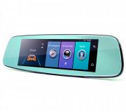 Зеркало заднего вида Phisung E06 с видеорегистратором, монитором, камерой с подсветкой, Wi-Fi, 4G, Bluetooth, GPS (Android 5.1)