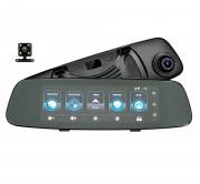 Зеркало заднего вида Phisung C06 с видеорегистратором, монитором, камерой с подсветкой, Wi-Fi, 3G, Bluetooth, GPS (Android 5.0)