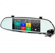Зеркало заднего вида Phisung C08 с видеорегистратором, монитором, камерой с подсветкой, Wi-Fi, 3G, Bluetooth, GPS (Android 5.0)