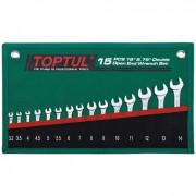 Набор рожковых ключей 3.2-14мм 15°х75° Toptul GRAJ1501 (15шт)