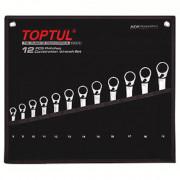 Набор ключей комбинированных реверсивных 8-19мм с трещоткой Toptul GPAQ1203 (12шт)