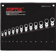 Набор ключей комбинированных 8-19мм с трещоткой и шарниром Toptul GPAQ1204 (12шт)