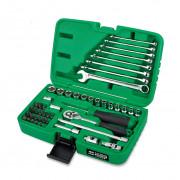 Набор инструмента 1/4'' с комбинированными рожково-накидными ключами Toptul GCAI4901 (49шт)