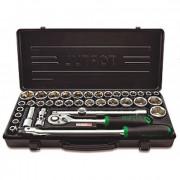 Набор инструмента 1/2'' с торцевыми 6-гранными метрическими и дюймовыми головками Toptul GBB38190 (38шт)