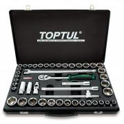 Набор инструмента 1/2'' с торцевыми 6-гранными метрическими и дюймовыми головками Toptul GCAD4601 (46шт)