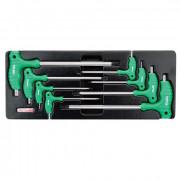 Набор L-образных ключей TORX с ручкой T10-T50 (в ложементе) Toptul GAAT0804 (8шт)