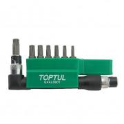 Набор бит 1/4'' TORX T10-T40 с Г-образным переходником Toptul GAAL0801 (8шт)