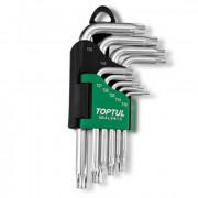 Набор Г-образных ключей TORX T10-T50 Toptul GAAL0913 (9шт)