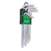 Набор длинных Г-образных ключей TORX T10-T50 Toptul GAAL0914 (9шт)