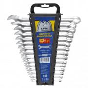 Набор ключей комбинированных 6-22мм Сталь 48008 (15шт)