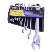 Набор ключей комбинированных изогнутых 6-22мм Сталь 48041 (12шт)