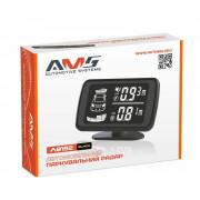 Парктроник AMS A8192 для заднего и переднего бампера с LCD-дисплеем